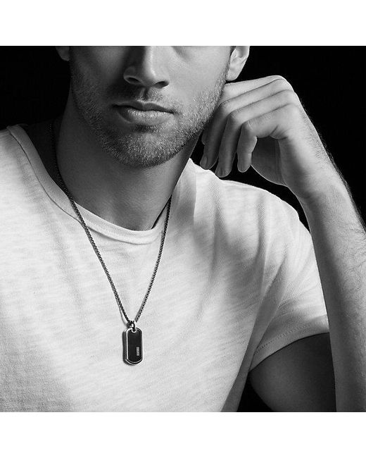 David Yurman | Exotic Stone Tag With Black Onyx for Men | Lyst
