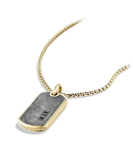David Yurman | Metallic Meteorite Tag In 18k Gold for Men | Lyst