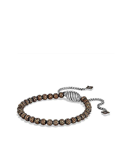 David Yurman - Brown Petite Pave Bracelet With Cognac Diamonds - Lyst