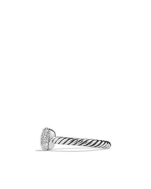 David Yurman | Metallic Pavé Ring With Diamonds | Lyst