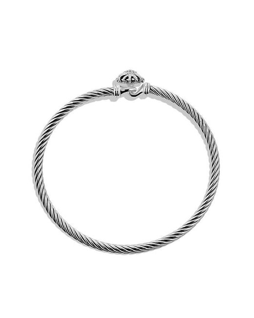 David Yurman - Metallic Starburst Bracelet With Diamonds, 3mm - Lyst