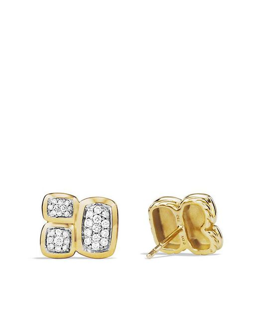 David Yurman | Metallic Confetti Earrings With Diamonds In 18k Gold | Lyst