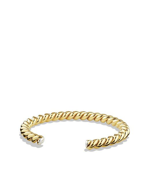 David Yurman - Metallic Cable Cuff Bracelet With 18k Gold, 6.5mm for Men - Lyst