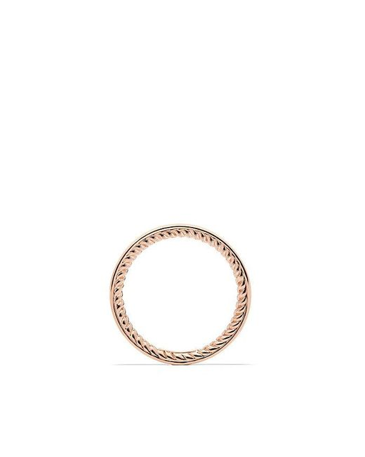 David Yurman - Pink Dy Eden Eternity Wedding Band With Diamonds In 18k Rose Gold, 2.3mm - Lyst
