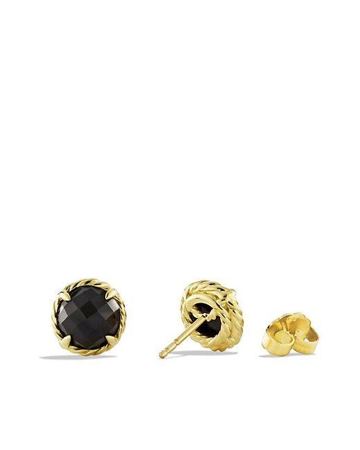 David Yurman | Châtelaine® Earrings With Black Onyx In 18k Gold | Lyst