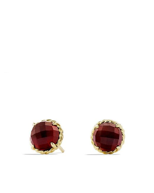 David Yurman | Yellow Châtelaine® Earrings With Garnet In 18k Gold | Lyst