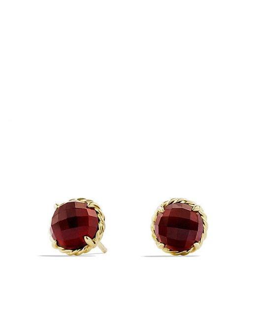 David Yurman | Yellow Châtelaine Earrings With Garnet In 18k Gold | Lyst