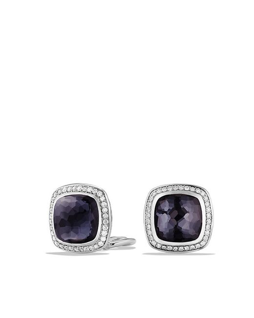 David Yurman | Albion® Earrings With Black Orchid And Diamonds, 11mm | Lyst