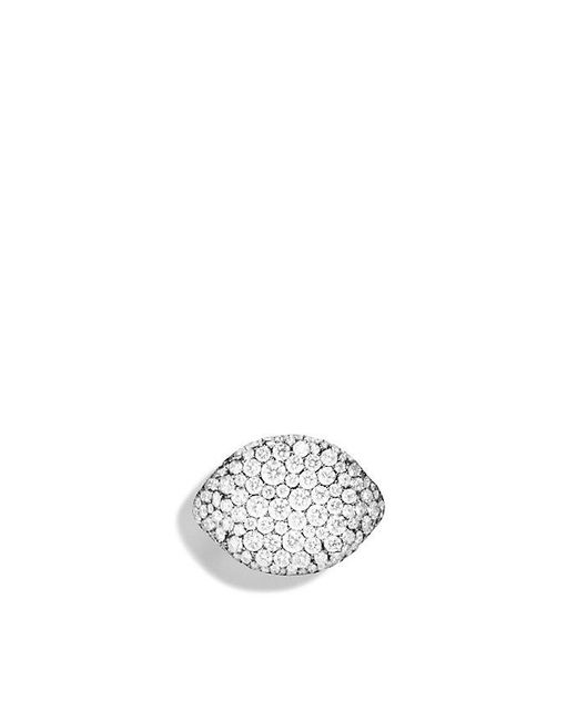 David Yurman - Pavé Pinky Ring With Diamonds In 18k White Gold - Lyst