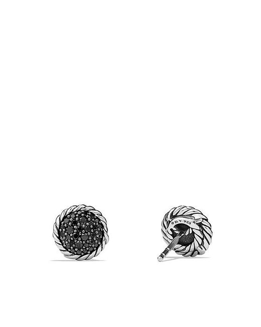 David Yurman - Petite Pave Earrings With Black Diamonds - Lyst