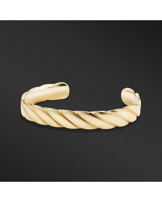 David Yurman - Metallic Cable Classics Wide Cuff Bracelet In 18k Gold, 11mm for Men - Lyst
