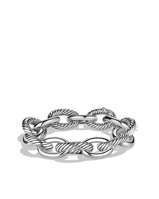David Yurman - Metallic Oval Extra-large Link Bracelet - Lyst