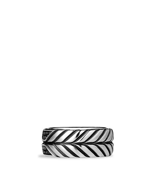 David Yurman | Modern Chevron Band Ring With Black Diamonds, 9mm for Men | Lyst