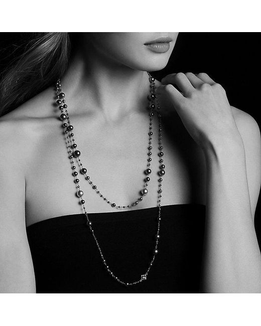 David Yurman | Metallic Oceanica Pearl And Bead Link Necklace | Lyst
