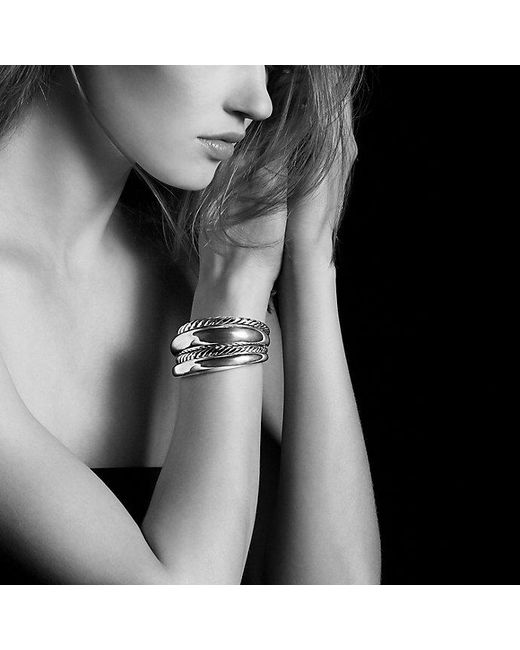 David Yurman | Metallic Pure Form Four Row Cuff In Sterling Silver | Lyst