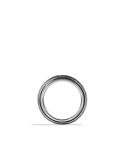 David Yurman   Gray Meteorite Knife-edge Band Ring for Men   Lyst