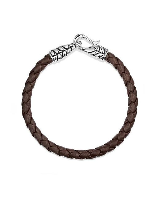 David Yurman | Chevron Woven Leather Bracelet In Brown, 6mm for Men | Lyst