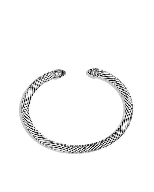 David Yurman - Cable Classics Bracelet With Black Onyx And Diamonds, 5mm - Lyst