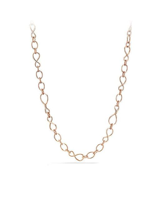 David Yurman | Metallic Continuance Medium Chain Necklace In 18k Rose Gold | Lyst