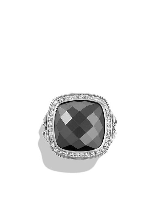 David Yurman - Multicolor Albion® Ring With Green Orchid And Diamonds In 18k Gold, 14mm - Lyst