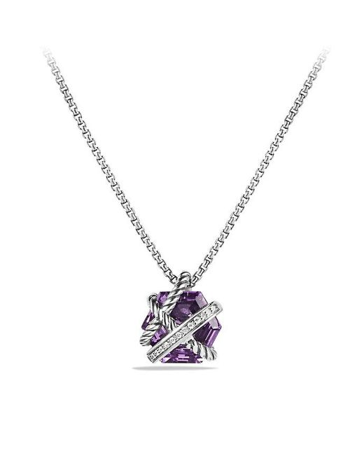 David Yurman | Purple Cable Wrap Necklace With Amethyst And Diamonds, 10mm | Lyst