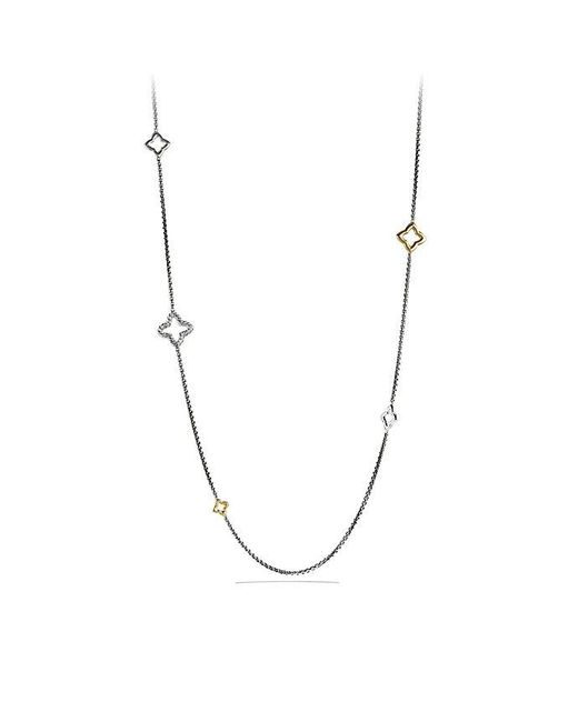 David Yurman | Metallic Quatrefoil Chain Necklace With 14k Gold | Lyst