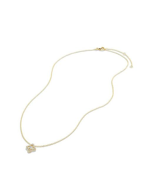 David Yurman | Metallic Venetian Quatrefoil® Necklace With Diamonds In 18k Gold | Lyst