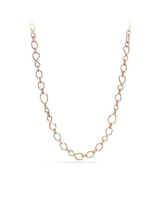 David Yurman | Metallic Continuance Medium Chain Necklace In 18k Rose Gold | Lyst