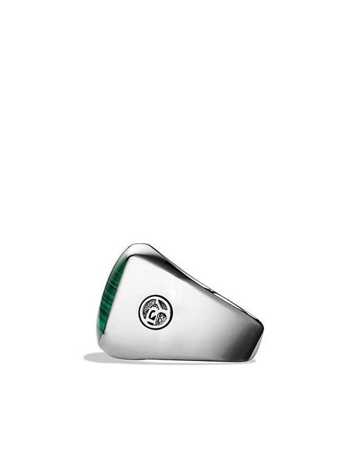 David Yurman | Metallic Exotic Stone Signet Ring With Malachite for Men | Lyst