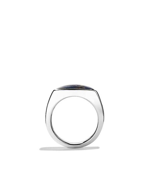 David Yurman | Metallic Exotic Stone Signet Ring With Pietersite for Men | Lyst