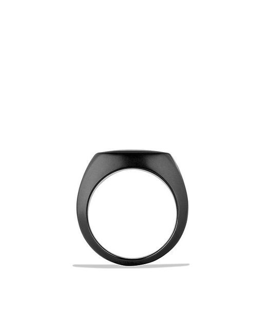 David Yurman | Exotic Stone Signet Ring With Black Onyx In Black Titanium for Men | Lyst