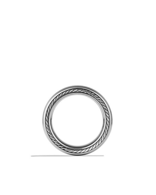 David Yurman | Streamline Wide Band Ring With Gray Titanium, 9mm for Men | Lyst