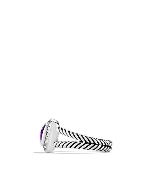 David Yurman | Metallic Petite Albion Ring With Amethyst And Diamonds | Lyst