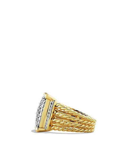 David Yurman | Metallic Wheaton Ring With Diamonds In 18k Gold | Lyst