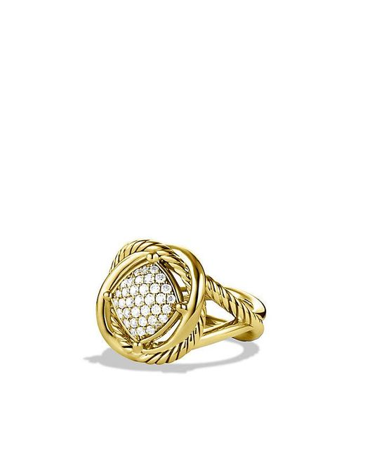 David Yurman | Metallic Infinity Ring With Diamonds In 18k Gold | Lyst