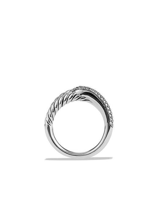 David Yurman | Metallic Labyrinth Single-loop Ring With Diamonds | Lyst