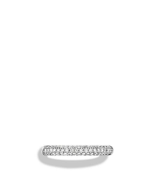 David Yurman | Metallic Petite Pavé Ring With Diamonds | Lyst
