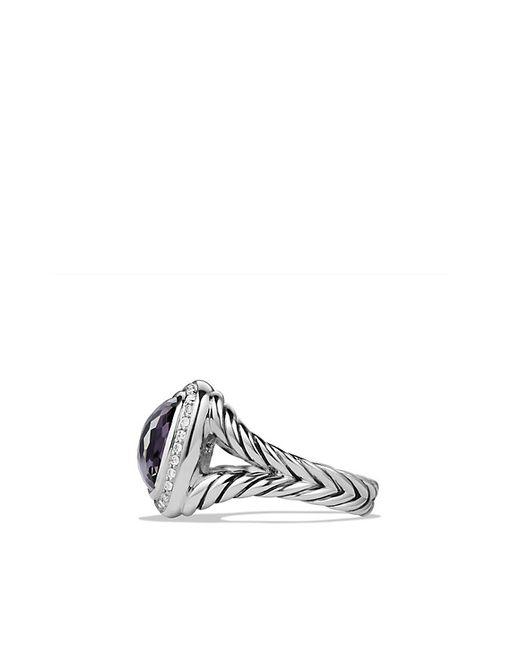 David Yurman   Metallic Albion® Ring With Black Orchid And Diamonds, 11mm   Lyst