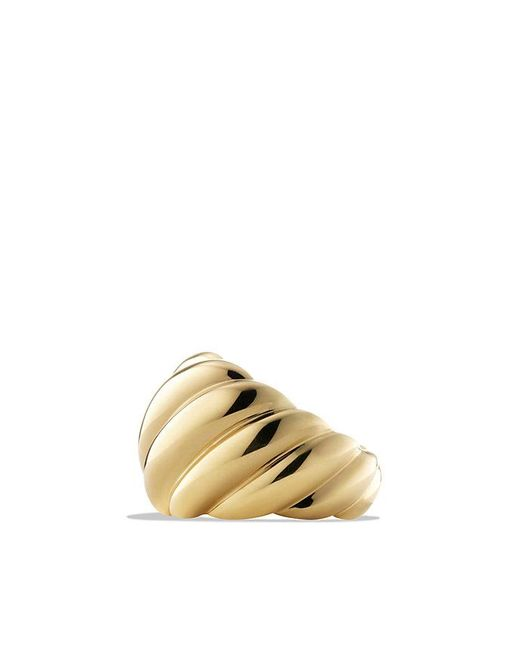 David Yurman | Metallic Hampton Cable Collection Ring In 18k Gold | Lyst