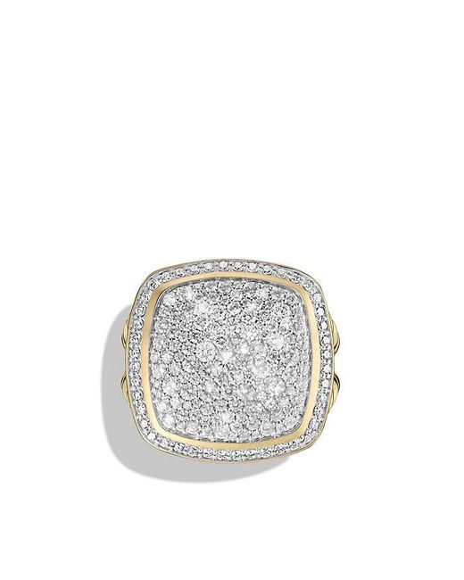 David Yurman | Metallic Albion® Ring With Diamonds In 18k Gold | Lyst