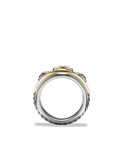 David Yurman | Metallic Renaissance Ring With Citrine, Rhodalite Garnet And 14k Gold | Lyst