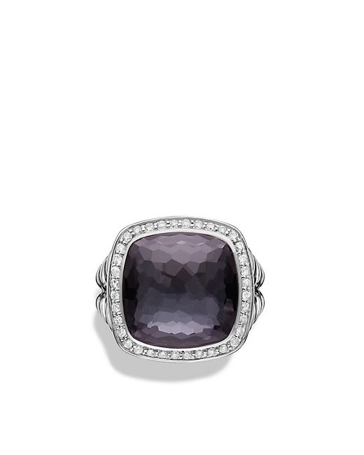 David Yurman | Metallic Albion® Ring With Black Orchid And Diamonds, 14mm | Lyst