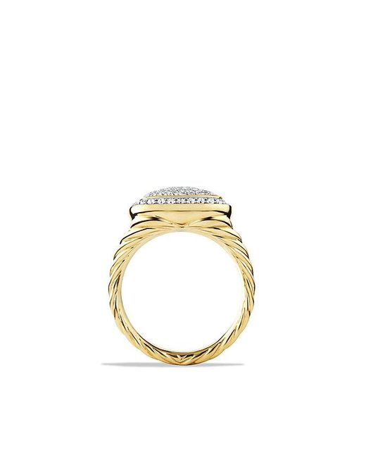 David Yurman | Metallic Albion® Ring With Diamonds In 18k Gold, 11mm | Lyst