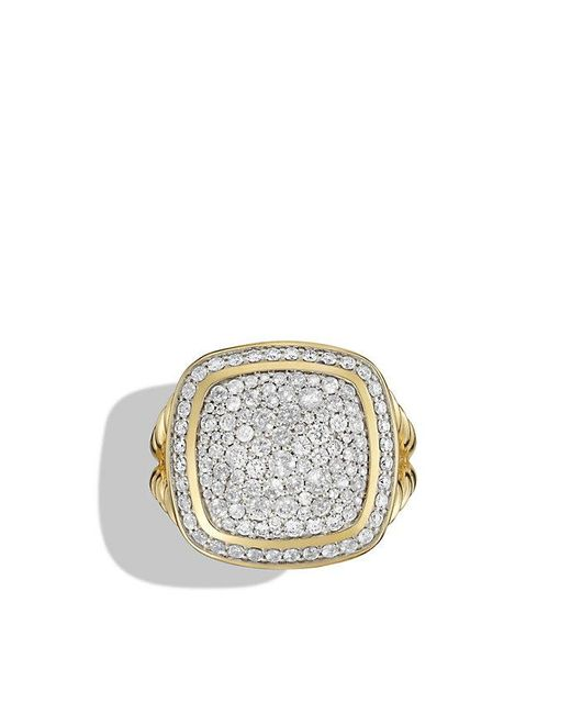 David Yurman | Metallic Albion Ring With Diamonds In 18k Gold | Lyst