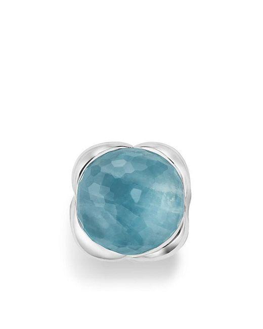 David Yurman | Blue Continuance Ring With Milky Aquamarine | Lyst