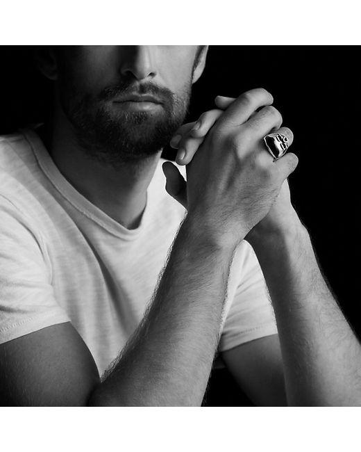 David Yurman | Metallic Carved Skull Ring With Meteorite for Men | Lyst