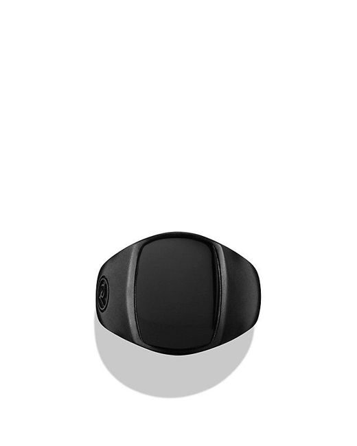 David Yurman | Exotic Stone Pinky Ring With Black Onyx In Black Titanium for Men | Lyst
