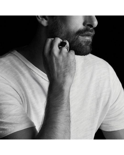 David Yurman | Knife-edge Signet Ring With Black Onyx for Men | Lyst