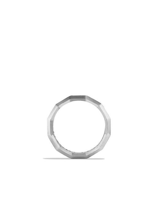 David Yurman | Metallic Faceted Metal Band Ring, 10mm | Lyst