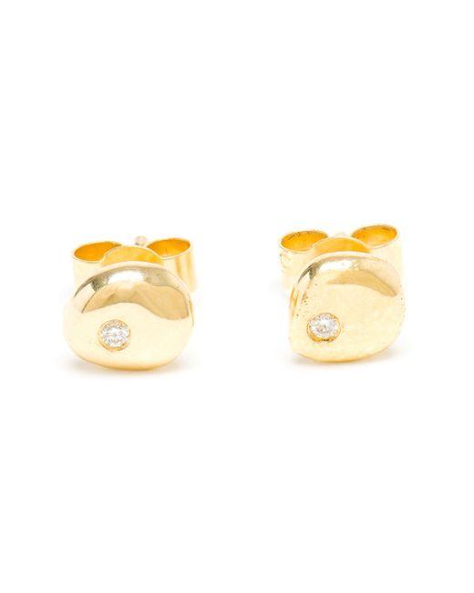 Natasha Collis | Metallic 18kt Gold And Diamond Stud Earrings | Lyst